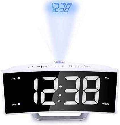 DYHM Despertador Reloj de Escritorio de proyección con Hora Radio ...