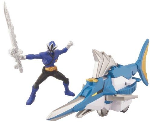 Power Ranger Zord Vehicle w/ Figure, SwordfishZord with Blue Ranger ()