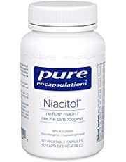 Pure Encapsulations - Niacitol - 500 mg No-Flush Niacin to Support Digestion, Hormone Synthesis, and Tissue Formation* - 60 Vegetable Capsules