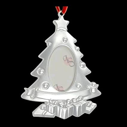 silver plated christmas tree photo frame ornament - Silver Plated Christmas Tree Decorations