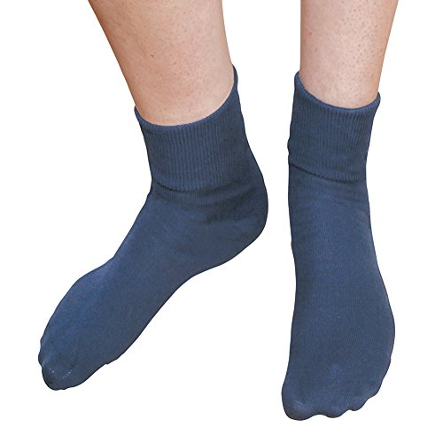 Buster Brown Women's 100% Cotton Socks - 3 Pair Package Fold Over Bobby Socks - Navy - ()