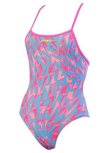 84efb1e0f Maru Swimwear Lightning Strike Pacer Fly Back Pink Aqua Kids (26):  Amazon.co.uk: Clothing
