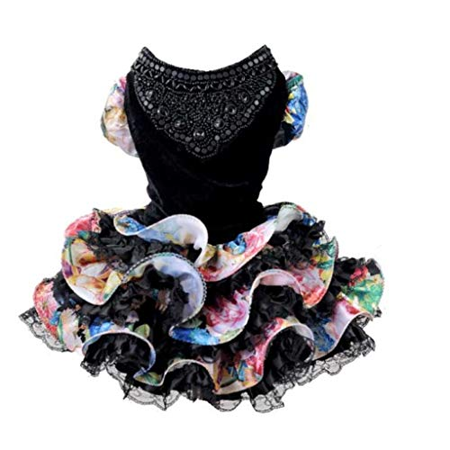 LVYING Dog Pet Dresses Fluffy Layer Wedding Suit Formal Dress Party Costume for Style]()
