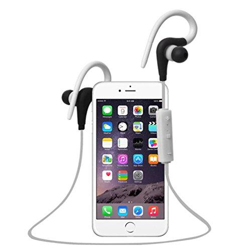 Bluetooth Earbuds TOOPOOT Bluetooth Stereo Waterproof Sports Headphones (White1)