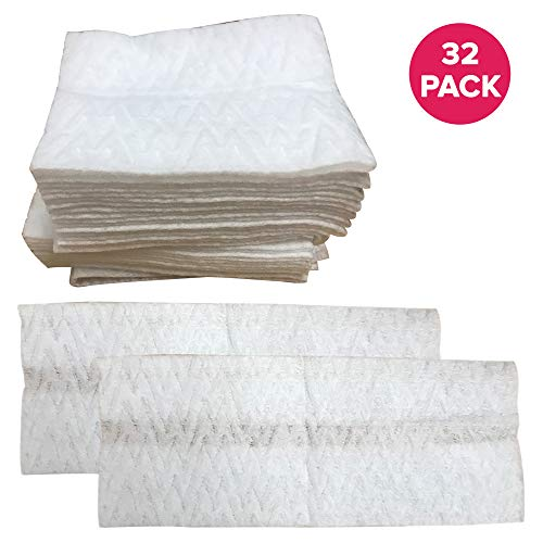 Think Crucial 32PK Thick Replacement Swiffer Dry Pads, Multi Surface Refills for Hardwood Duster Floor Mop Cleaner Sweeper Pad Cloths, Approximate Size 8x10 inches