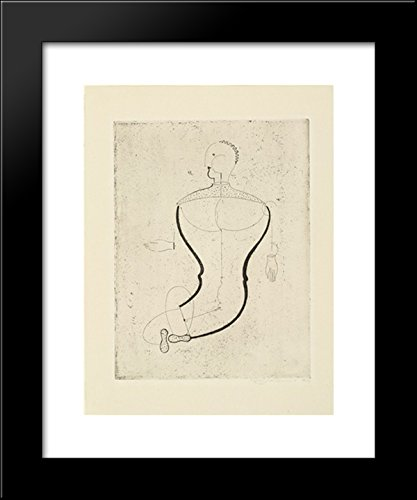 Abstract Figure, Facing Left Figure S (Abstrakte Figur, nach links Figur S) 20x24 Framed Art Print by Oskar Schlemmer