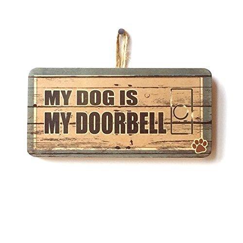 Mi perro es mi timbre Cute Funny Novelty placa de cartel de ...