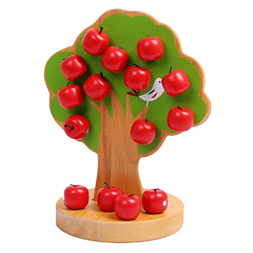 Surker Wooden Magnetic Apple Tree/Beading Tree/Educational Toy for Kids/Boys &