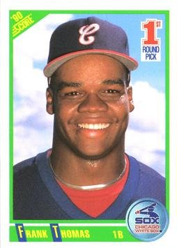 663 Baseball - 1990 Score Baseball #663 Frank Thomas Rookie Card