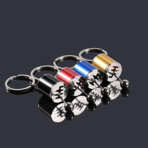 sahnah Unique Car Stalls Head Keychain Multi-Style Simulation Model Car Parts Gear Position Bag Accessories 4 Colors