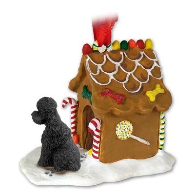 - POODLE Dog Black Sportcut NEW Resin GINGERBREAD HOUSE Christmas Ornament 104D