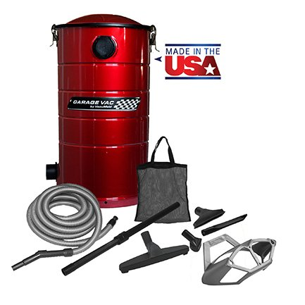 VacuMaid GV50R Wall Mounted Garage and Car Vacuum with 50 ft hose and Tools