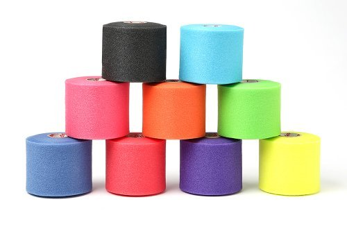 Outdoor Sport Pre-wrap Variety Pack (black, teal, pink, orange, lime, blue, red, purple and sunburst yellow) Model: by Mueller