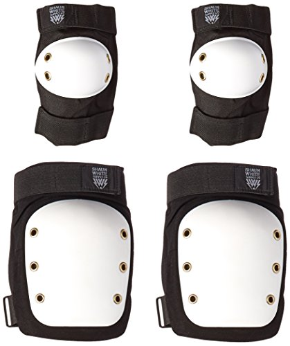 Shaun White Supply Co. Street/Park Knee/Elbow Protective Pads - Black - Large/Extra Large