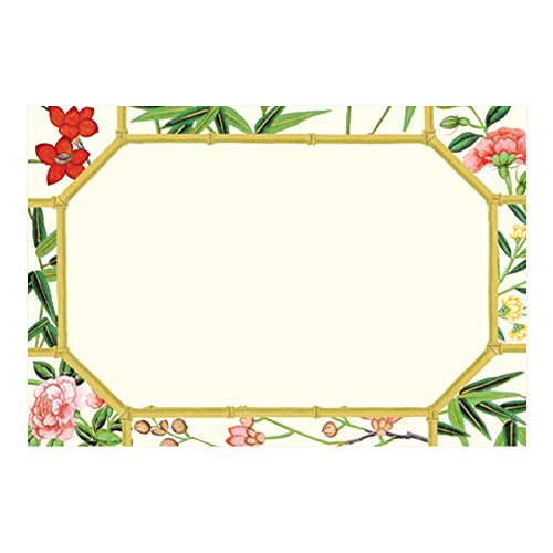 Caspari Chinese Wallpaper Place Cards in Gold, 30 Included