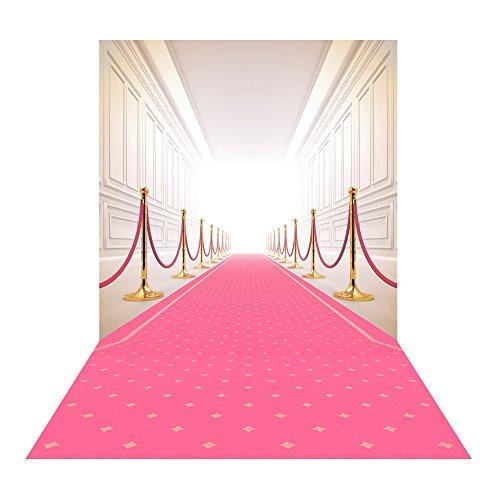 Muzi 5x8ft pink carpet photography backdrop film premiere photo background for wedding party XT-5535 from Muzi
