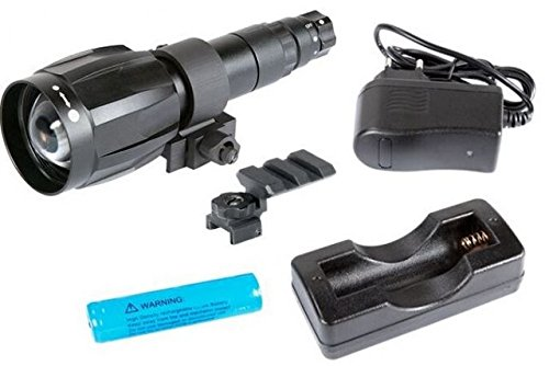 Armasight XLR-IR850 Detachable X-Long Range Infrared Illuminator with IRDS Adapter 115 for Dark Strider, Rechargeable Battery, and Charger by Armasight