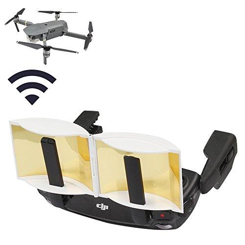 RCstyle-DJI-Mavic-Pro-Controller-Transmitter-Signal-Extend-Aluminum-Parabolic-Radar-Antenna-Range-Booster-RedWhiteBlack