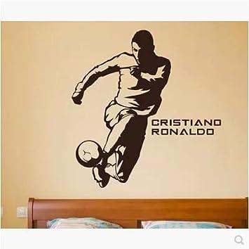 autocollant mural stickers muraux chambre Parure de dortoir pour gar/çons Cristiano Ronaldo /Étoile du football Sports Ronaldo