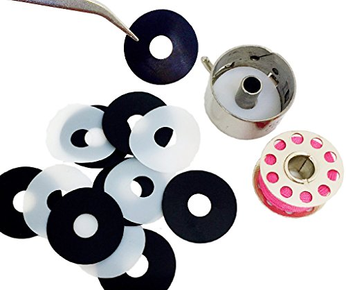 PeavyTailor Little Genie Magic Bobbin Washers for Sewing Machine Brother Janome Elna Bernina Singer Bernina Kenmore Babylock 12 Pack Bobbin Buddies
