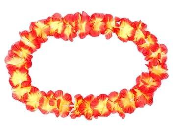 Hawaiiketten Hula Ketten Blumenketten rot 17 Alsino 24 Stk