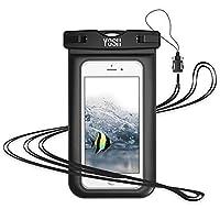 "YOSH Funda impermeable para teléfono Funda impermeable para teléfono Funda para teléfono seco Bolsa impermeable para teléfono Funda impermeable universal Compatible con iPhone Xs X 8 7 6 6s Plus Galaxy S9 S8 S7 S6 Pixel 2 3 hasta 6.0 """