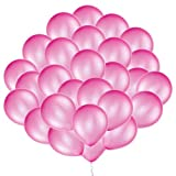 Eshanmu 100 pcs 12 inch Pink Pearl Latex Balloon for Boy Girl Party for Activity Campaign