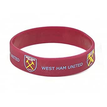West Ham Silicone Wristband (UK Size: One Size) (Maroon)