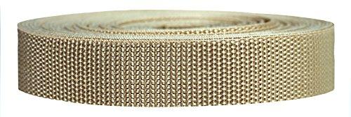 Strapworks Heavyweight Polypropylene Webbing - Heavy Duty Poly Strapping for Outdoor DIY Gear Repair, 1 Inch x 10 Yards - Khaki