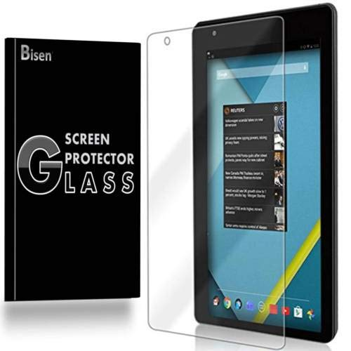 "[2-Pack BISEN] Fit for RCA Voyager 7"" (RCT6773W42) Tempered Glass Screen Protector, Anti-Scratch, Anti-Shock, Shatterproof, Lifetime Protection"