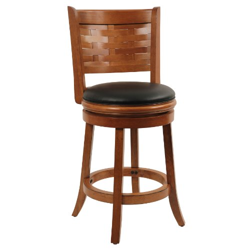 Boraam 41024 Sumatra Swivel Stool, 24-Inch, Distressed ()