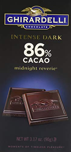 - Ghirardelli Intense Dark Midnight Reverie Chocolate Bar, 3.1 Ounce - 12 per case.