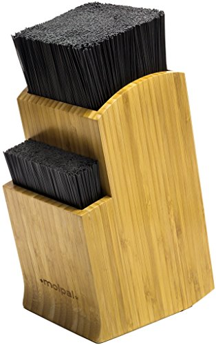 Universal Bamboo Knife Block Holder - Kitchen Stand Without Knives - by Molpal (Americas Test Kitchen Knife Block)