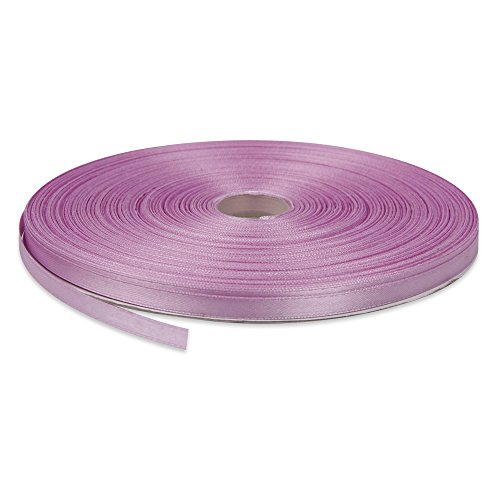 Topenca Supplies 1/4 Inches x 50 Yards Double Face Solid Satin Ribbon Roll, Lavender
