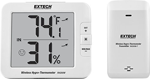 Extech RH200W Wireless Indoor/Outdoor Hygro-Thermometer ()