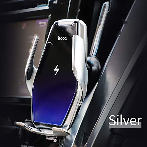 Hoco. Cargador Inalámbrico Coche, 2 en 1 Abrazadera Automática Soporte para teléfono,15W Carga Rápida Wireless Car…
