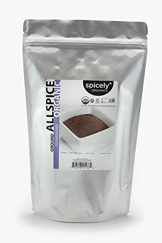 Spicely Organic Allspice Ground 1 Lb Bag Certified Gluten Free