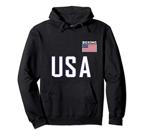 USA Flag Boxing Hoodie Pocket Equipment Jacket for Boxer