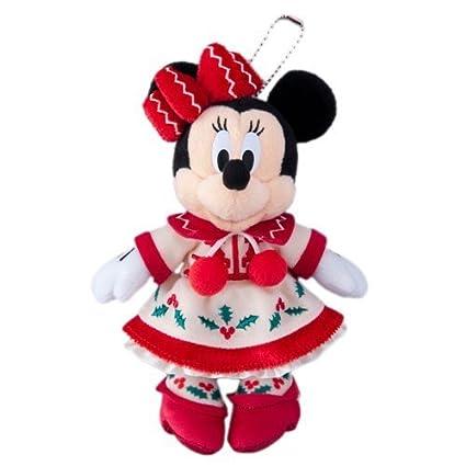 disney christmas 2015 minnie mouse stuffed toy badge christmas fantasy tokyo disneyland limited 2015 - Disney Christmas 2015