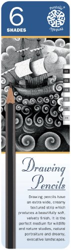 - Pentalic Art 6-Piece Sketch Pencil Tin Set