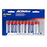 BATTERIES AA 20PK HEAVY DUTY AC DELCO CARDERED, Case Pack of 24