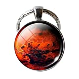 little big planet keychain - Mars Pendant Mars Keychain, Mars Jewelry, Galaxy Universe Space Planet Keychain, Chains Christmas Gift for Men