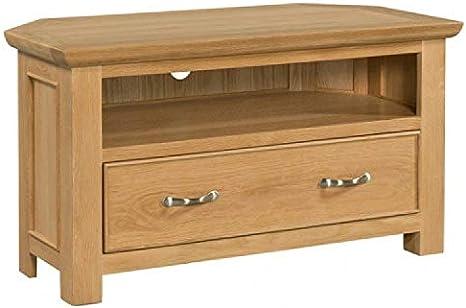 Mueble esquinero de Roble Siena para TV: Amazon.es: Hogar