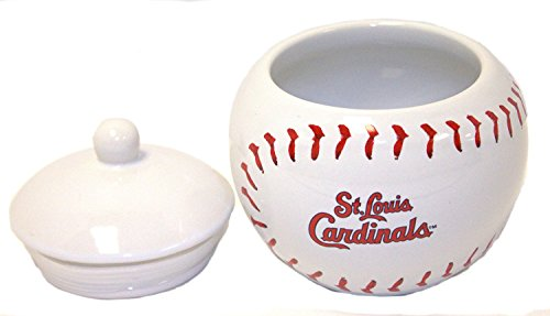 MLB Licensed Ceramic Game Time Jar Candy Dish (St. Louis Cardinals) (Louis St Cards Game)