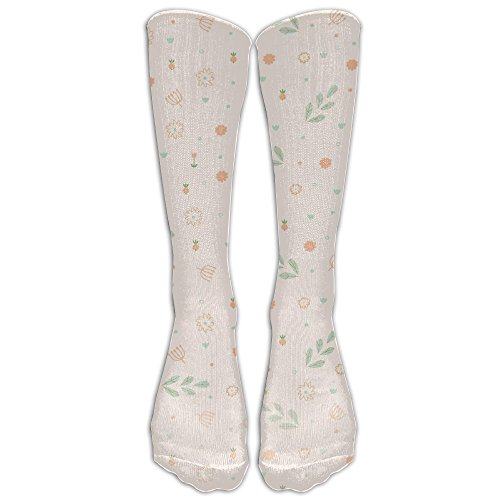 Cartoon Plants Cute Comfort Casual Fashion Long Socks For Running ,Sport And Travel