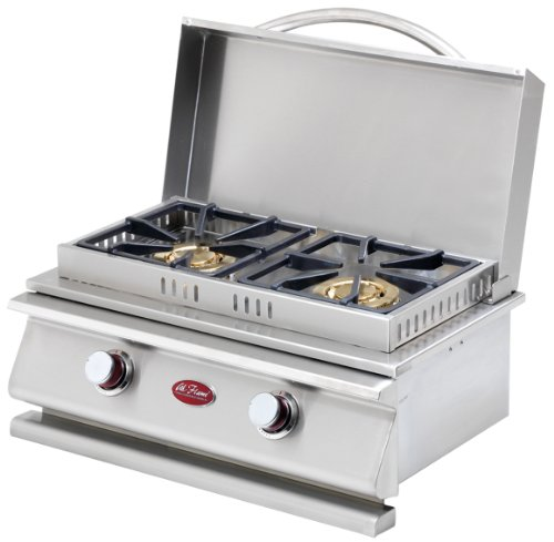 CalFlame BBQ08954P-A Deluxe Side by Side Burner
