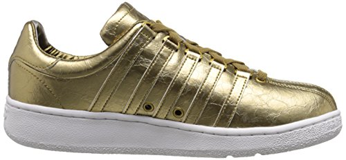 Foil Metallic Gold Aged Leather Classic White Men's Swiss K VN BxwTvPXvq