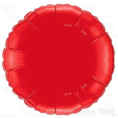 (18 Inch Helium Foil Mylar Balloons (Premium Quality), Pack of 6, Round - Red)