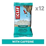 CLIF BAR - Energy Bars - Cool Mint Chocolate with Caffeine (2.4 Ounce Protein Bar, 12 Count)