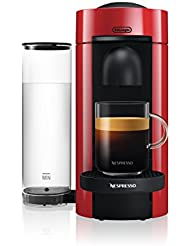 DeLonghi America ENV150R Vertuoplus Espresso Machine, Red